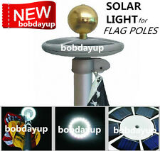 SunnyTech Upgraded Solar Flag Pole Flagpole Light 20LED Top Mount Garden decor