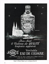 PUBLICITE ADVERTISING 034   1958   EAU DE COLOGNE n° 4711