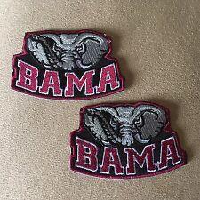 Lot of 2 University of ALABAMA CRIMSON TIDE Logo Iron-on Bama Jersey PATCHES!