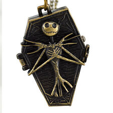 Vintage Retro Skull Cosplay Watch Chain Necklace Quartz Pocket Watch Unisex W19