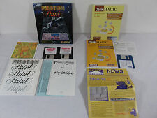 Photon Paint 2.0 & Disk Magic Software Amiga Computer Vintage Rare Computing