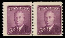 "CANADA 296 - King George VI ""Postes-Postage"" Coil Pair (pf89173)"