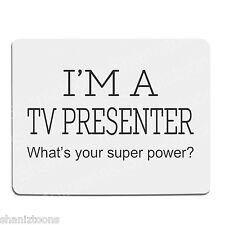 TV Presenter Novelty Gift 190mm x 210mm 5mm Thick Rubber Mouse Mat