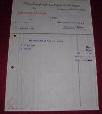rechnung gutschrift anzeige alt antik maschinenfabrik esslingen 1921 papier