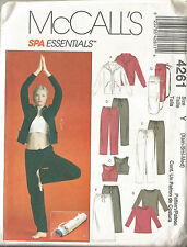 MISSES PATTERN FOR SPA ESSENTIALS-JACKET-TOPS-PANTS-BAG-SIZE Xsm-Sml-Med-uncut