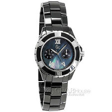 New GC Guess Collection Ladies Sport Class XL-S Glam Watch Swiss Black Ceramic
