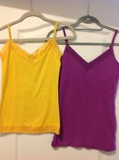 WOMENS LOT OF 2 TANK TOPS SHIRTS-VICTORIA & ENERGIE-SIZE MEDIUM JR-COTTON LACE