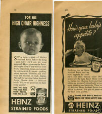 1938 2 Heinz Beef & Liver Vegetable Soup Baby Food Vintage Print Ad
