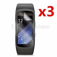 3 x Clear Screen Protector Film Shield Guard Anti Scratch For Samsung Gear Fit 2