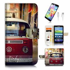 Samsung Galaxy S7 Flip Wallet Case Cover P3171 Kombi Van