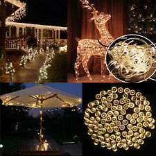 100 200 LED Solar Electric String Lights XMAS Wedding Tree Party Lamp Colorful