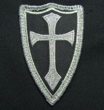 CROSS CRUSADER SHIELD NAVY SEAL DEVGRU ARMY TACTICAL BADGE SILVER VELCRO PATCH