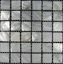 Mother Of Pearl Mosaic Tiles River Bed Nature Pearl Shell Mosaic Squre White
