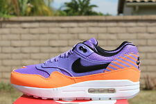 NIKE AIR MAX 1 FB PREMIUM QS 8.5 MERCURIAL ATOMIC VIOLET ORANGE BLK 665874 500