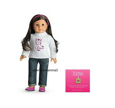 """American Girl MY AG SWEET SUGAR OUTFIT for 18"""" Dolls Retired Pet Denim Sweater"""