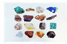 Collection of Rock Minerals Large Cotton Tea Towel