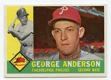 SPARKY ANDERSON  Signed 1960 Topps #34 Phillies  HOF  KOA  Authenticated