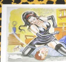 Eric STANTON Fetisch Kult Erotik Postkarte Bdsm Zeichnung Domina faceslapping
