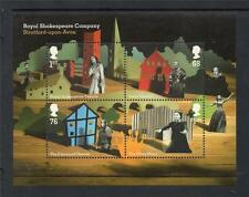 GB MNH 2011 MS3179 50TH ANV OF THE ROYAL SHAKESPEARE COMPANY MINISHEET