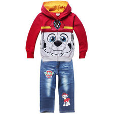 Kids Boys' Paw Patrol Hooded Sweater Long Sleeve Top+Jeans Trousers 2-6Years