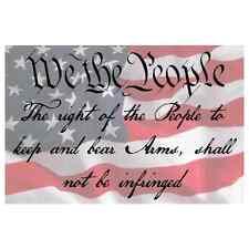 American Flag 2nd Amendment Quote Printed Vinyl Decal