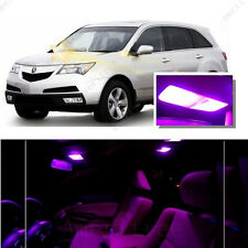 For Acura MDX 2007-2009 Pink LED Interior Kit + Pink License Light LED