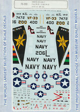 1/72 MicroScale Decals Carrier Air Wing CAW-7 F-4J A-7E CAG F9F-2 72-333