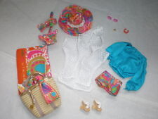 TRINA TURK MODEL MUSE MALIBU BARBIE COMPLETE OUTFITS AND ACCESSORIES ONLY
