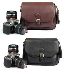 Shoulder Leather Camera Bag For Canon Nikon Sony Olympus DSLR SLR Woman handbag