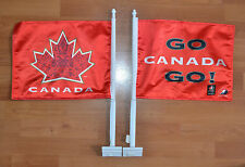 TEAM CANADA + HOCKEY CANADA + CAR WINDOW FLAG + DOUBLE SIDED + 2010 OLYMPICS