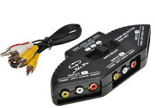 3 to 1 RCA AV Video Game Device Splitter Selector Switch TV Multi Box