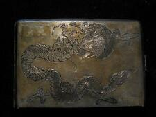 Siu Kee Collectors RARE China-Hong Kong Export Cigarette Case 925 STR c1900-1920
