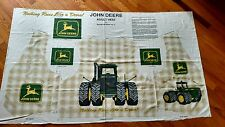 John Deere Tractor Adult Vest Cut and Sew Panel Fabric Large to Ex Large Craft