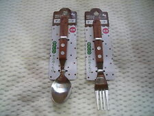 Hello Kitty spoon & fork set Natural Wood  Sanrio from Japan