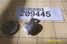 Scroll Etched Locket Sterling Silver 925 Heart Charm Pendant 209445