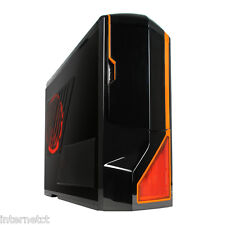 NZXT PHANTOM ENTHUSIAST BLACK ORANGE FULL TOWER PC GAMING COMPUTER CASE