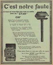 Y9565 Rasoir STAR - Pubblicità d'epoca - 1912 Old advertising