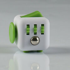 1PCs Stress Relief Focus 6-side Figet Cube Dice Gift ForAdults Kids Light Green