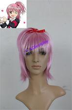 Shugo Chara Amu Hinamori Cosplay Wig short wig pink color acgcosplay