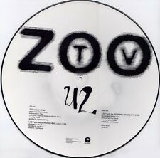 """U2 Zoo Station 3 track Usa Dj 12"""" Picture Disc with 1992 Tour Dates"""