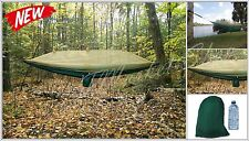 Nylon Parachute Hammock EARTH Mosquito Net Camping Lightweight Outdoors GREEN ..