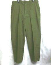 U.S. ARMY 19 MAY 1953 FIELD WOOL M -1951 O.D. ZIPPER TROUSERS PANTS / REG - MED