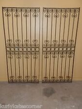 RARE PAIR OF  100+ YEAR OLD FRENCH WROUGHT IRON GATES