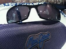 """Maui jim """"HOKU""""106-02 GLOSS BLACK/GREY,BRAND NEW FACTORY SEALED,IMPOSSIBLE FIND!"""