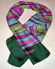 Mädchen Schal  112 x 30 cm grün/pink blau/gelb gestreift
