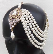 TRADITIONAL MATHA PATTI  SIDE HEAD JEWELLERY BRIDAL DECORATION HEAD TIKKA INDIAN