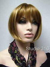 Short  Reddish Blonde Pageboy Wig 27h613
