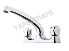CONTRACT KITCHEN SINK DECK MIXER TAP CHROME TAPS 2 HOLE   CH3