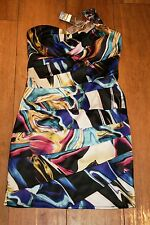 NEW&TAGS LIPSY dress SIZE 8 bandage stretch silky strapless occasion party club