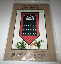 PATTERN Primitive Snowman Christmas Advent Calender Banner UNCUT OOP Powder Mill